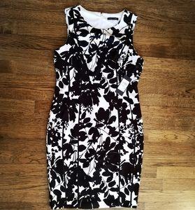 Tommy Hilfiger Black White Floral Print Dress 8